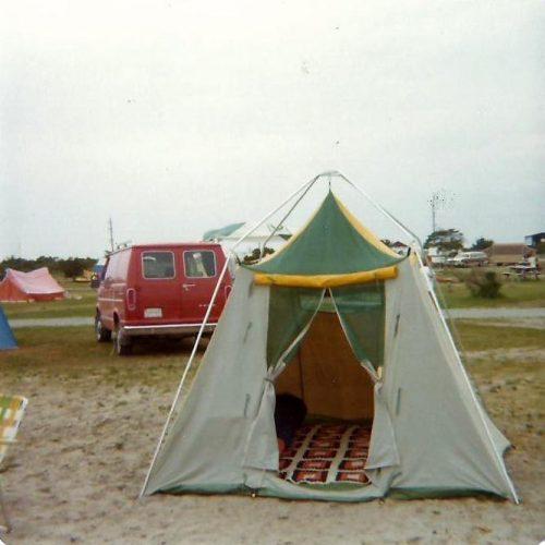 Camping en 1976