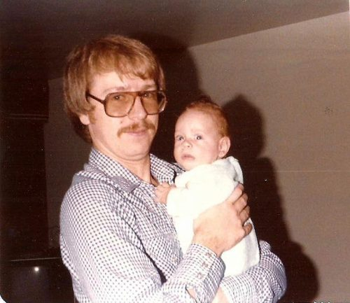 Et me voici papa! Sur cette photo, Marc-André a trois mois!