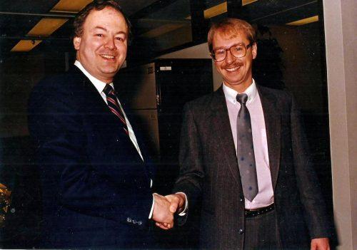 Michel Hamelin, président de la CUM, et moi en 1985