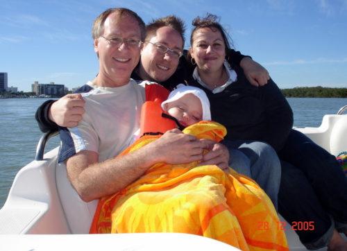 En bateau sur un canal de Cape Coral à noel 2005!