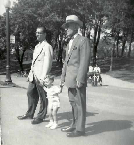 Papa, moi et grand-papa, septembre 55