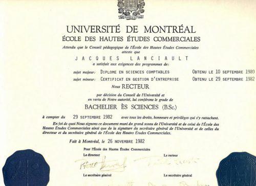 Baccalauréat, novembre 1982