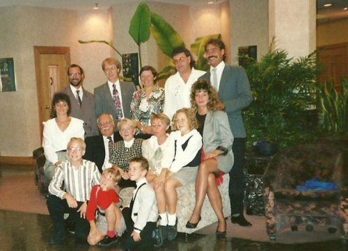 Quelques membres de la famille Lanciault en visite au Bain Généreux