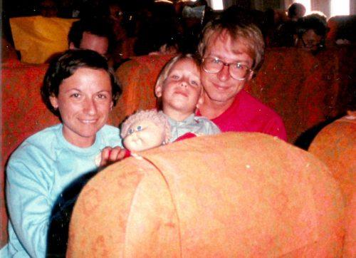 Céline, Marc-André et moi, août 1980 en route pour Miami.