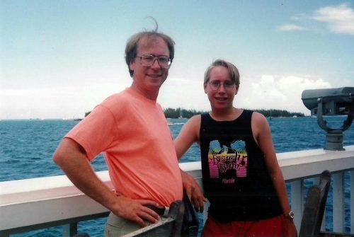 Marc-André et moi à Key West en Floride