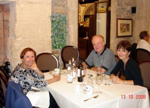 Souper avec nos amis Claude et Carole le 13 octobre 2008 à Syracuse, en Sicile.