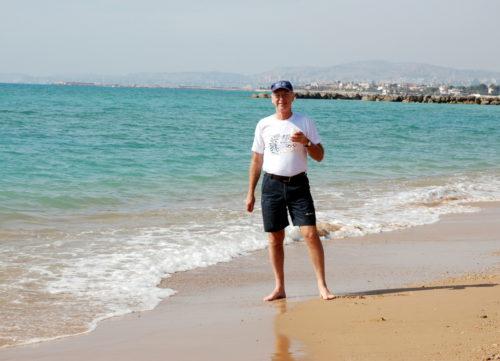 15 octobre 2008, pique-nique sur la plage à Agrigente en Sicile!