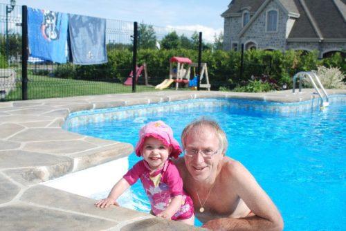 14 juin 2009, Chloé et moi, chez Marc-André et Isabel à Blainville
