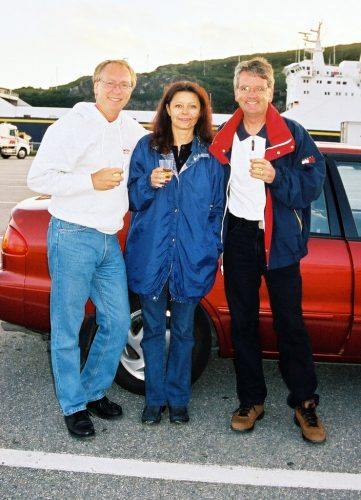 Moi, Diane et Guy Boisvert en attente du ferry à Corner Brook