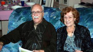 Voici mon papa, dans notre salon de la rue Tadoussac avec celle qui fut sa dernière compagne, Marie-Paule Lépine!