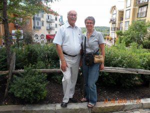 En 2009, mon père et ma jeune soeur Martine.