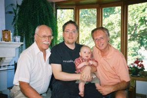 Quatre générations de Lanciault... mon père, André, mon fils, Marc-André, son fils, Félix et moi!