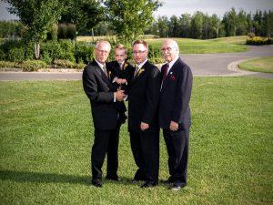 """Une nouvelle fois """"quatre générations de Lanciault"""". Cette fois-ci à l'occasion du mariage d'Isabel et de Marc-André le 7 juillet 2007!"""