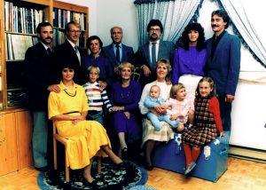 Notre famille au grand complet... peu avant le décès de ma mère en 1992.