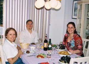 """Agréable souper """"de moules"""" le 23 juin 2003!"""