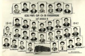 La classe de 10e de mon père... en 1946-1947!