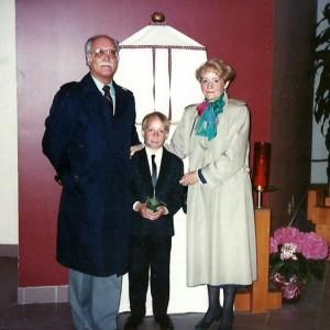 Le 24 avril 1988, Marc-André fait sa première communion à l'église Sainte-Angèle de Mérici, à Saint-Léonard, là où nous nous sommes mariés!
