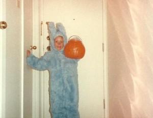 Un costume d'Halloween confectionné par grand-maman Hélène!