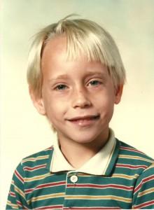 Octobre 1985, Marc-André est en première année!