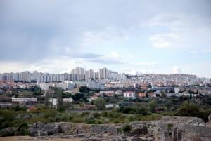 Ville de Split vue du site archéologique de Salona.