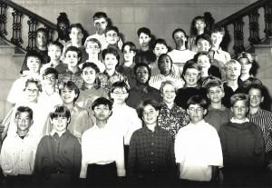 Marc-André et sa classe de secondaire 2 photographiées en octobre 1992!