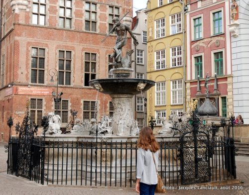 Fontaine de Neptune, Gdańsk, Pologne