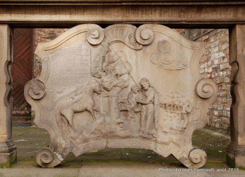 Sculpture en pierre, Gdańsk, Pologne