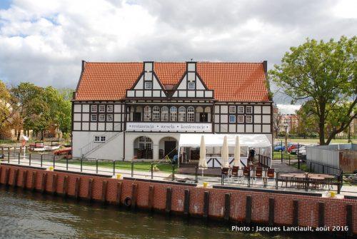 Rivière Motława, Gdańsk, Pologne