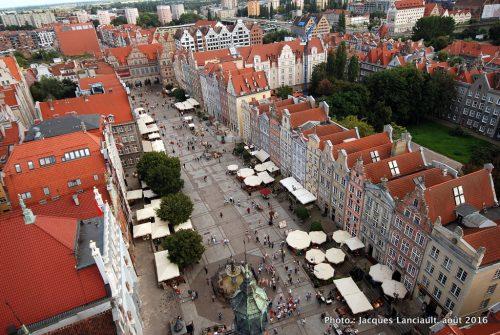 Vue de la Tour de l'Hôtel de Ville, Gdańsk, Pologne
