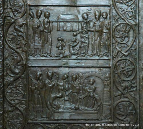 Porte de Saint Adalbert, cathédrale de Gniezno, Pologne