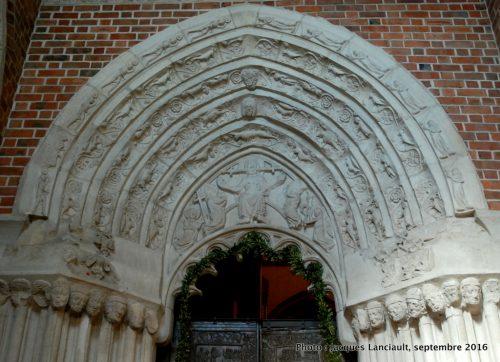 Portail de la porte de Saint Adalbert, cathédrale de Gniezno, Pologne