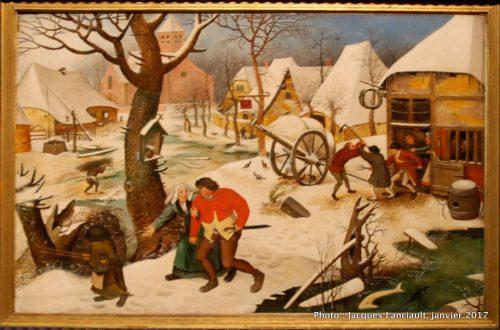 «L'hiver», Pieter Brugel le Jeune (1564), MBAM