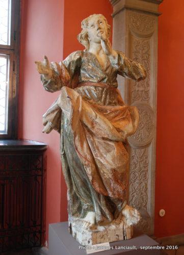 Statue de Saint-Jean-l'évangéliste, Musée historique de la ville, Poznań, Pologne