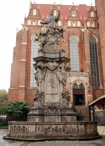 Monument de Saint-Jean de Népomucène, île Ostrów Tumski, Wrocław, Pologne