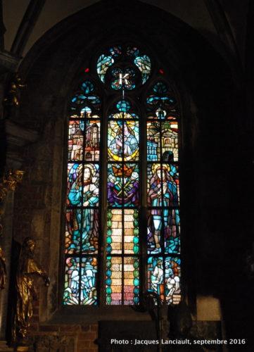 Vitraux de l'église Saint-Jean-Baptiste, île Ostrów Tumski, Wrocław, Pologne