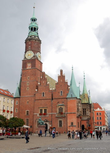 L'Hôtel de Ville, Wrocław, Pologne