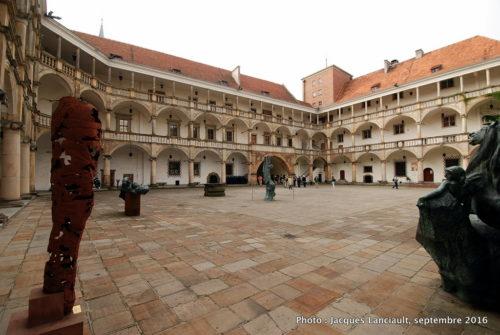 Cour intérieure du château des Piast, Brzeg, Pologne