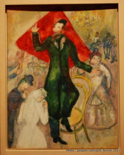 Variante pour le panneau Le Théâtre, Marc Chagall, MBAM