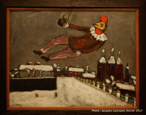 Homme-coq au-dessus de Vitebsk, Marc Chagall, 1925, MBAM