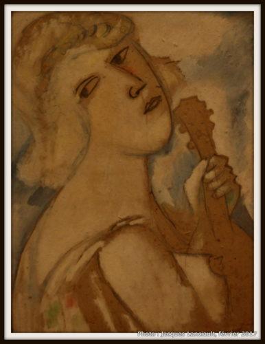 Femme à la mandoline, Marc Chagall, 1941, MBAM