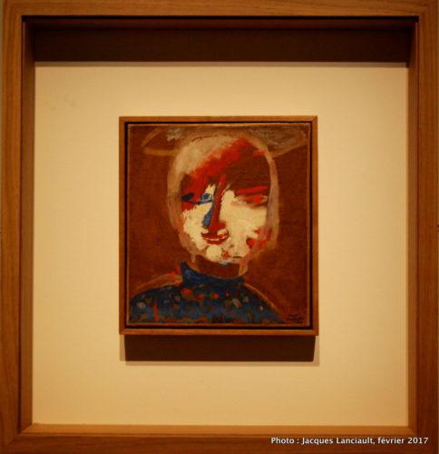 Autoportrait, Tête au nimbe, Marc Chagall, 1911, MBAM