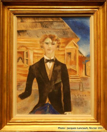 Autoportrait, Devant la maison, Marc Chagall, 1914, MBAM