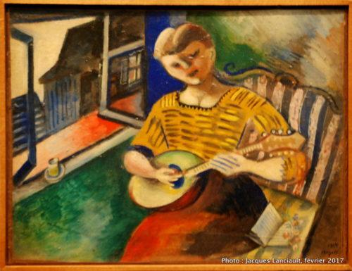 Lisa à la mandoline, Marc Chagall, 1914, MBAM