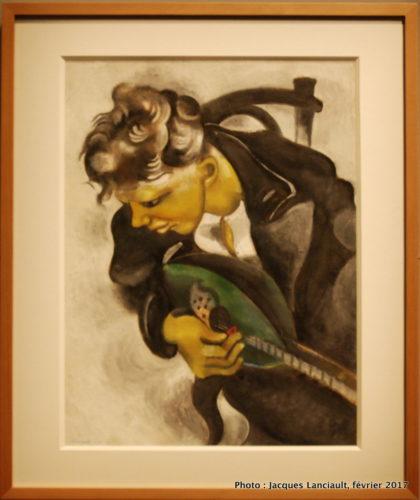 David à la mandoline, Marc Chagall, 1944, MBAM