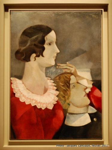 Les amoureux en gris, Marc Chagall, 1916-17, MBAM