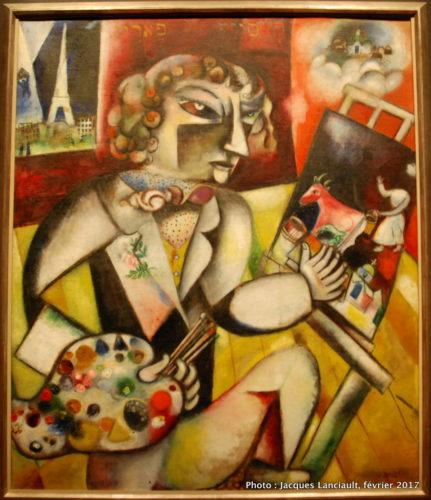 Autoportrait… aux sept doigts, Marc Chagall, 1912-1913, MBAM