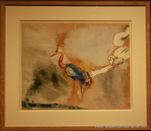 Les Grenouilles qui demandent un roi, Marc Chagall, 1927, MBAM