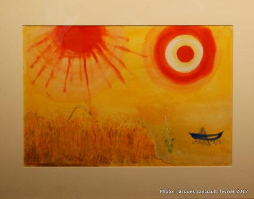 Maquettes de toile de fond pour Aleko, Marc Chagall, 1942, MBAM