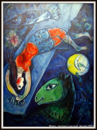 Le cirque bleu, Marc Chagall, 1950-1952, MBAM