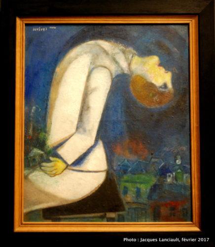 L'homme à la tête renversée, Marc Chagall, 1919, MBAM